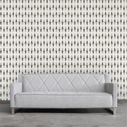 Retrogeo Industrial Loft Greyscale Removable Wallpaper | Kathy Kuo Home