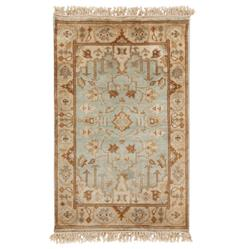 Reverie Grey Beige Global Bazaar Oriental Hand Knotted Wool Rug - 2x3 | Kathy Kuo Home