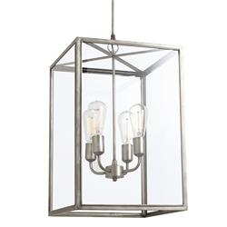 Riteveld Industrial Classic Silver Iron Lantern | Kathy Kuo Home