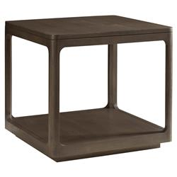 Robin Modern Classic Polished Teak Cube End Table | Kathy Kuo Home