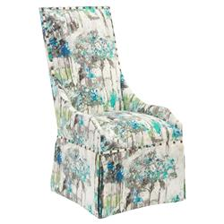 Rockdale Coastal Nail Trim Green Watercolor Dining Chair | Kathy Kuo Home