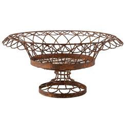 Ruben Rusted Round Petal Iron Baskets - Set of 2 | Kathy Kuo Home