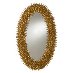 Russel Regency Paris Ornate Gold Oval Mirror | Kathy Kuo Home