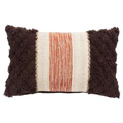 Rustic Lodge Brown Rust Textured Pillow - 12x20 | Kathy Kuo Home