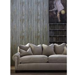 Rustic Lodge Timber Panel Wallpaper - Driftwood | Kathy Kuo Home