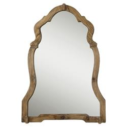 Saint Rustic Queen Anne Walnut Wood Mirror | Kathy Kuo Home