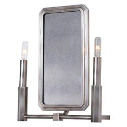 Salvadora Regency Antique Mirror Silver 2 Light Sconce | Kathy Kuo Home