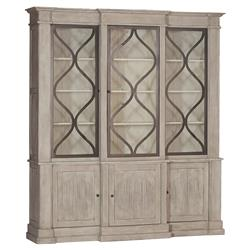 Samantha French Country Wood 3 Door Display Cabinet | Kathy Kuo Home