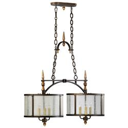 San Giorgio Spanish Revival 6 Light Bronze Island Pendant | Kathy Kuo Home