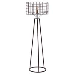 Sanctuary Industrial Loft Steel Exposed Bulb Floor Lamp | Kathy Kuo Home