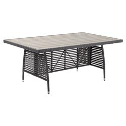 Sandra Modern Classic  Faux Wood Aluminum Outdoor Dining Table | Kathy Kuo Home