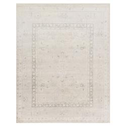 Seine French Antique Silver Wash Traditional Rug - 6x9 | Kathy Kuo Home