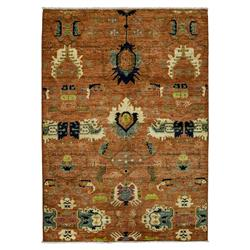 Shamir Global Antique Red Traditional Wool Rug - 6'4 x 9 | Kathy Kuo Home