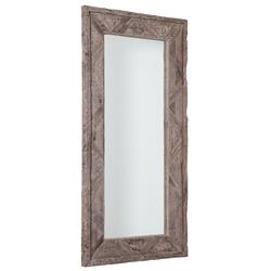 Sheldon Rustic Lodge Reclaimed Railroad Ties Mirror | Kathy Kuo Home