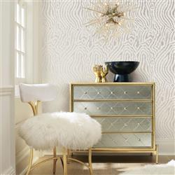 Silvery Zebra Modern Clic Removable Wallpaper Kathy Kuo Home