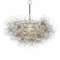 Sima Modern Floating Glass Bubbles Clear Grey Chandelier | Kathy Kuo Home