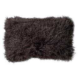 Slade Modern Classic Brown Mongolian Lamb Fur Decorative Pillow - Set of 2 | Kathy Kuo Home