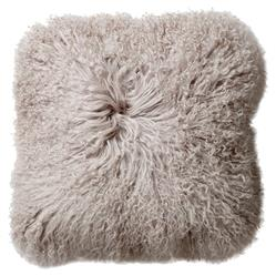 Slade Modern Classic Dark Grey Mongolian Lamb Fur Decorative Pillow - Set of 2 | Kathy Kuo Home