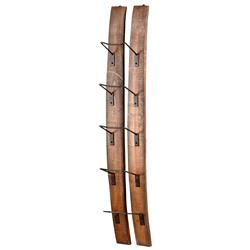 Small Fresno Reclaimed Wood Modern Rustic Wine Bottle Shelf | Kathy Kuo Home