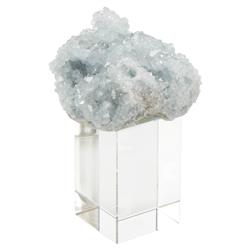 Soft Blue Celestite Fragment Crystal Cube Sculpture - S | Kathy Kuo Home