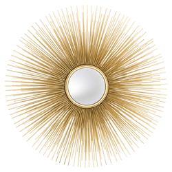 Solaris Hollywood Regency Gold Starburst Convex Wall Mirror | Kathy Kuo Home