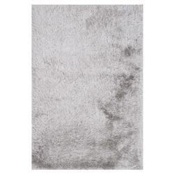 Sona Hollywood Modern Silver Grey Shag Rug - 2'3x3'9 | Kathy Kuo Home