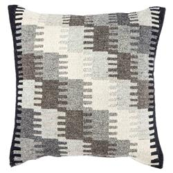Southwest Global Grey Geometric Wool Pillow - 20x20 | Kathy Kuo Home
