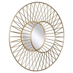 Spade Classic Dimensional Gold Sun Round Mirror | Kathy Kuo Home