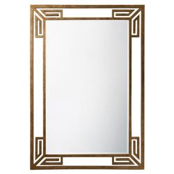 Stornaway Hollywood Regency Vintage Gilt Metal Angular Scroll Wall Mirror | Kathy Kuo Home
