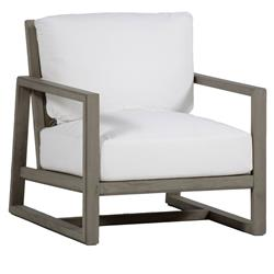 Summer Classics Avondale Modern Classic White Cushioned Teak Lounge Chair | Kathy Kuo Home
