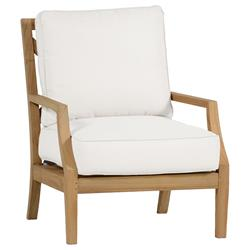 Summer Classics Haley Modern Coastal Classic Outdoor Lounge Teak Chair | Kathy Kuo Home