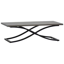 Summer Classics Marco Dove Grey Black Outdoor Coffee Table | Kathy Kuo Home