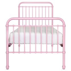 Susie Classic Pink Pastel Metal Bed - Twin | Kathy Kuo Home