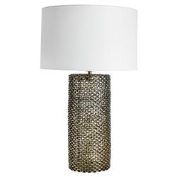 Sutter Industrial Modern Bronze Chain Link Column Lamp | Kathy Kuo Home