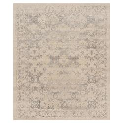 Tabia Global Pewter Antique Beige Wool Silk Rug - 5'6x8'6 | Kathy Kuo Home