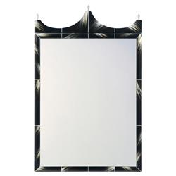 Talbert Modern Classic Faux Horn Painted Rectangular Wall Mirror | Kathy Kuo Home