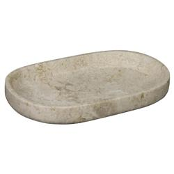Talin Global Bazaar White Marble Oval Tray | Kathy Kuo Home