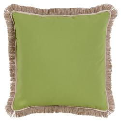 Talli Regency Fringe Lime Outdoor Pillow - 20x20 | Kathy Kuo Home