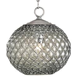 Teardrop Hollywood Regency Modern Glass Orb Pendant Lamp