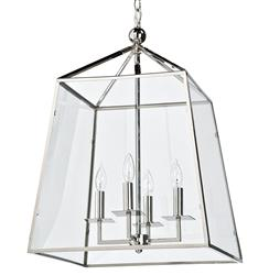 Industrial loft pendants lanterns kathy kuo home tesla industrial loft modern trapezoid silver metal glass lantern pendant kathy kuo home aloadofball Choice Image