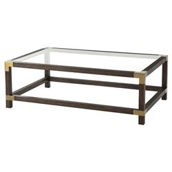 Theodore Alexander Modern Boulevard Rectangular Brown Wood Coffee Table | Kathy Kuo Home