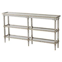 Theodore Alexander Starlight Regency Silver Leaf 3 Tier Console Table | Kathy Kuo Home