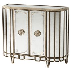 Theodore Alexander The Romantic Regency Antique Mirror 2 Door Cabinet | Kathy Kuo Home