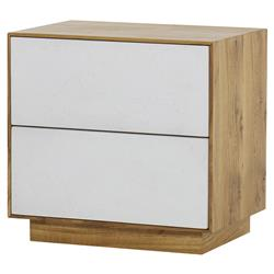 Thomas Bina Sands Modern Classic Brown Wood 2 Drawer Nightstand | Kathy Kuo Home