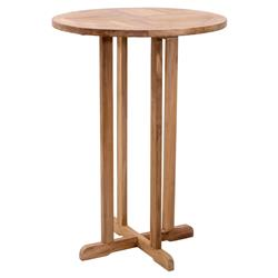 Tiffany Modern Classic Solid Teak Outdoor Bistro Bar Table | Kathy Kuo Home