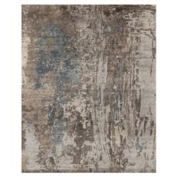 Tisa Modern Classic Canyon Grey Teal Marbled Rug - 5'6x8'6 | Kathy Kuo Home