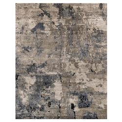 Tisa Modern Classic Canyon Slate Blue Marbled Rug - 5'6x8'6 | Kathy Kuo Home