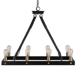 Toledo Industrial Loft Antique Bronze 8 Light Edison Chandelier | Kathy Kuo Home