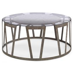 Travis Modern Classic Flat Silver Rectangle Coffee Table | Kathy Kuo Home