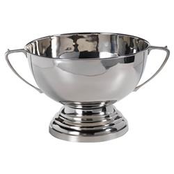 Trophy Modern Classic Polished Nickel Serving Bowl | Kathy Kuo Home